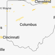 Regional Hail Map for Columbus, OH - Thursday, July 26, 2018