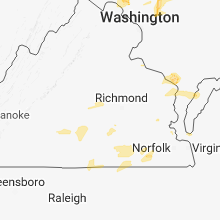 Regional Hail Map for Richmond, VA - Friday, July 27, 2018