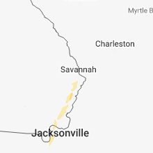 Regional Hail Map for Savannah, GA - Friday, July 27, 2018