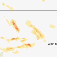 Regional Hail Map for Hays, KS - Saturday, July 28, 2018