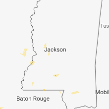 Regional Hail Map for Jackson, MS - Saturday, July 28, 2018