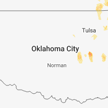 Regional Hail Map for Oklahoma City, OK - Saturday, July 28, 2018