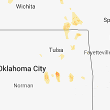 Regional Hail Map for Tulsa, OK - Saturday, July 28, 2018