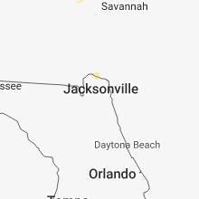 Regional Hail Map for Jacksonville, FL - Sunday, July 29, 2018