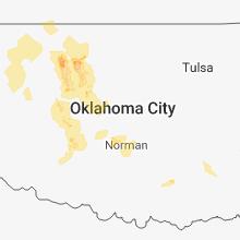 Regional Hail Map for Oklahoma City, OK - Sunday, July 29, 2018