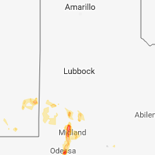 Regional Hail Map for Lubbock, TX - Monday, July 30, 2018