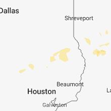 Regional Hail Map for Lufkin, TX - Monday, July 30, 2018