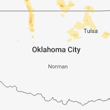 Regional Hail Map for Oklahoma City, OK - Monday, July 30, 2018
