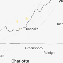 Regional Hail Map for Roanoke, VA - Monday, July 30, 2018