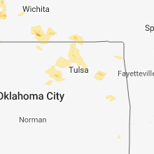 Regional Hail Map for Tulsa, OK - Monday, July 30, 2018