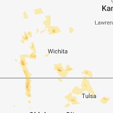 Regional Hail Map for Wichita, KS - Monday, July 30, 2018