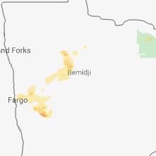 Regional Hail Map for Bemidji, MN - Tuesday, July 31, 2018