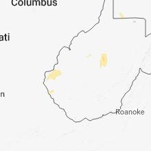 Regional Hail Map for Charleston, WV - Tuesday, July 31, 2018