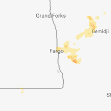 Regional Hail Map for Fargo, ND - Tuesday, July 31, 2018
