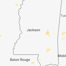 Regional Hail Map for Jackson, MS - Tuesday, July 31, 2018