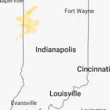 Regional Hail Map for Indianapolis, IN - Thursday, August 2, 2018