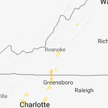 Regional Hail Map for Roanoke, VA - Thursday, August 2, 2018