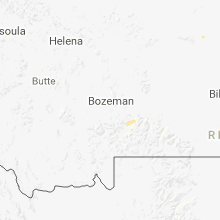 Regional Hail Map for Bozeman, MT - Friday, August 3, 2018
