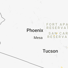 Regional Hail Map for Phoenix, AZ - Friday, August 3, 2018