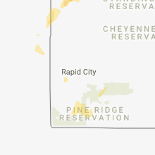 Regional Hail Map for Rapid City, SD - Friday, August 3, 2018