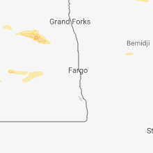 Regional Hail Map for Fargo, ND - Saturday, August 4, 2018