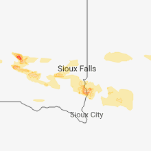 Regional Hail Map for Sioux Falls, SD - Saturday, August 4, 2018