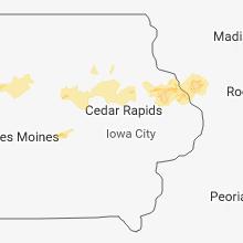 Regional Hail Map for Cedar Rapids, IA - Sunday, August 5, 2018