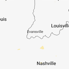 Regional Hail Map for Evansville, IN - Sunday, August 5, 2018