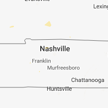 Regional Hail Map for Nashville, TN - Sunday, August 5, 2018