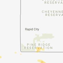 Regional Hail Map for Rapid City, SD - Sunday, August 5, 2018
