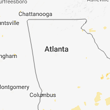 Regional Hail Map for Atlanta, GA - Monday, August 6, 2018