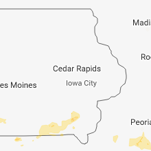 Regional Hail Map for Cedar Rapids, IA - Monday, August 6, 2018