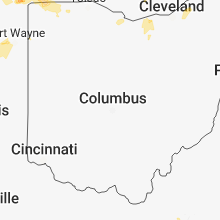 Regional Hail Map for Columbus, OH - Monday, August 6, 2018