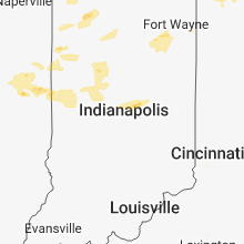 Regional Hail Map for Indianapolis, IN - Monday, August 6, 2018