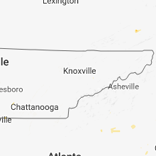 Regional Hail Map for Knoxville, TN - Monday, August 6, 2018