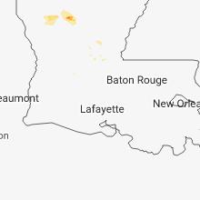 Hail Map for lafayette-la 2018-08-06