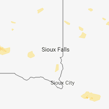 Regional Hail Map for Sioux Falls, SD - Monday, August 6, 2018