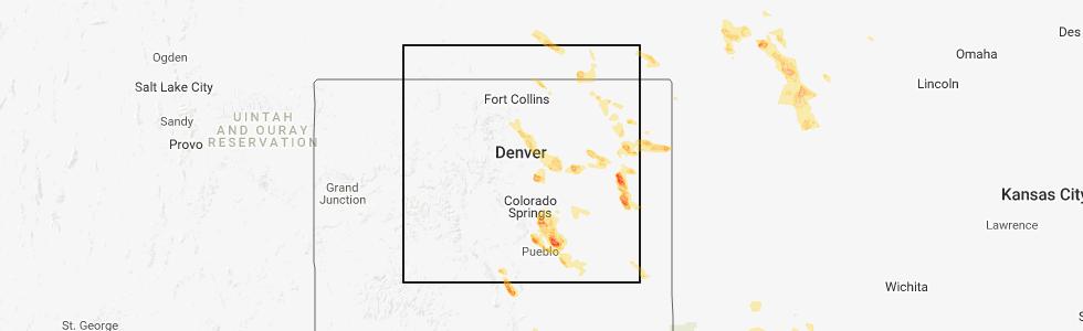Strasburg Colorado Map.Interactive Hail Maps Hail Map For Strasburg Co