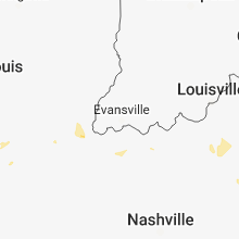 Regional Hail Map for Evansville, IN - Tuesday, August 7, 2018