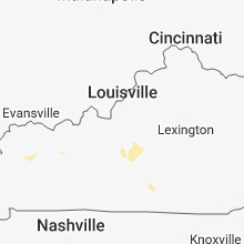 Regional Hail Map for Louisville, KY - Tuesday, August 7, 2018