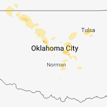 Regional Hail Map for Oklahoma City, OK - Tuesday, August 7, 2018