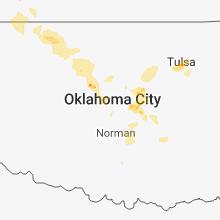 Regional Hail Map for Oklahoma City, OK - Tuesday, August 7, 2018