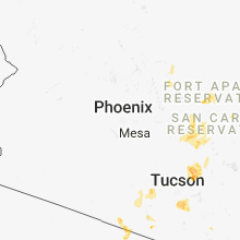 Regional Hail Map for Phoenix, AZ - Tuesday, August 7, 2018