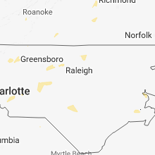 Hail Map for raleigh-nc 2018-08-07