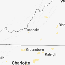 Regional Hail Map for Roanoke, VA - Tuesday, August 7, 2018