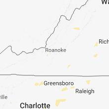 Regional Hail Map for Roanoke, VA - Tuesday, August 7, 2018