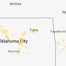 Regional Hail Map for Tulsa, OK - Tuesday, August 7, 2018