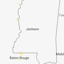 Regional Hail Map for Jackson, MS - Wednesday, August 8, 2018