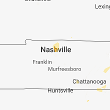 Regional Hail Map for Nashville, TN - Wednesday, August 8, 2018