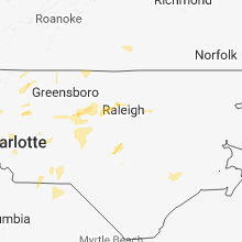 Hail Map for raleigh-nc 2018-08-08